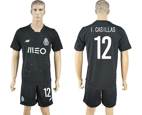 Oporto #12 I.Casillas Away Soccer Club Jersey