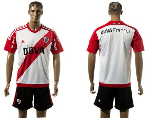River Plate Blank Home Soccer Club Jersey