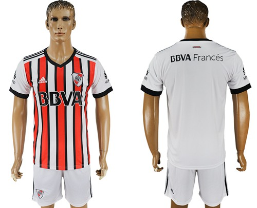River Plate Blank Sec Away Soccer Club Jersey