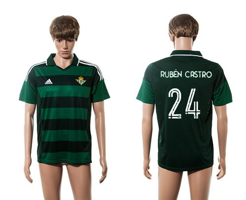 Real Betis #24 Ruben Castro Away Soccer Club Jersey