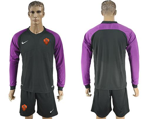 Roma Blank Black Goalkeeper Long Sleeves Soccer Club Jersey