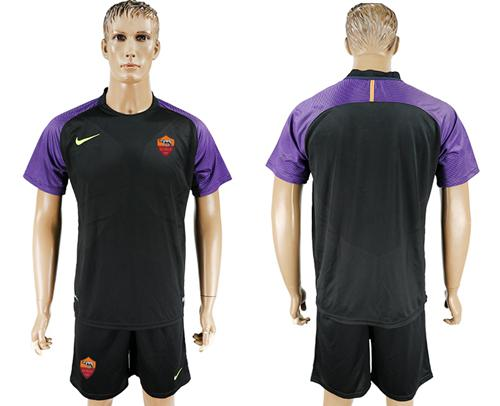 Roma Blank Black Goalkeeper Soccer Club Jersey