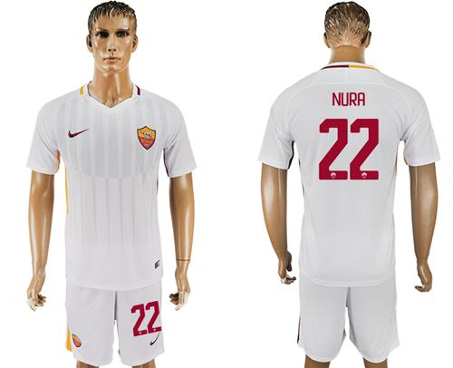 Roma #22 Nura Away Soccer Club Jersey