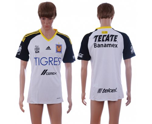 Tigres Blank White Soccer Club Jersey