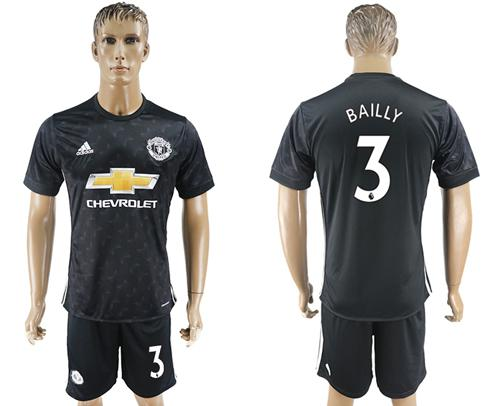 Manchester United #3 Bailly Away Soccer Club Jersey