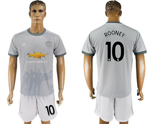 Manchester United #10 Rooney Sec Away Soccer Club Jersey