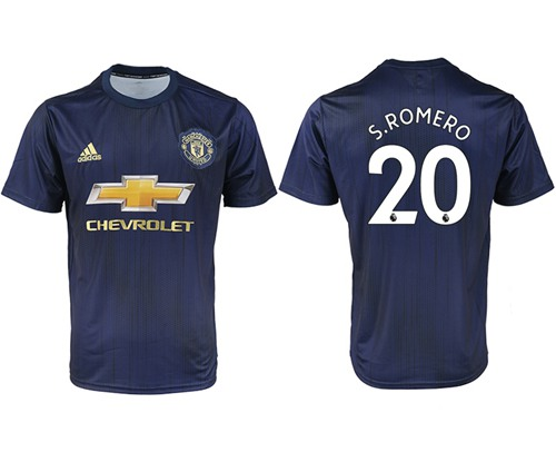 Manchester United #20 S.romero Away Soccer Club Jersey