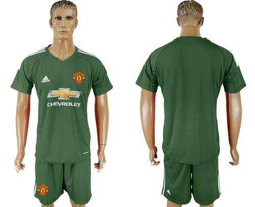 Manchester United Blank Green Goalkeeper Soccer Club Jersey