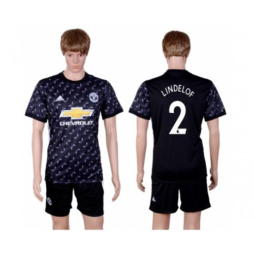 Manchester United #2 Lindelof Away Soccer Club Jersey