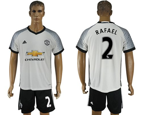 Manchester United #2 Rafael White Soccer Club Jersey