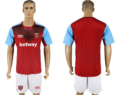 West Ham United Blank Home Soccer Club Jersey