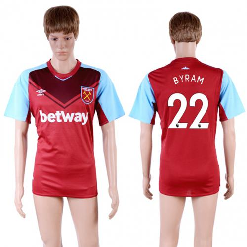 West Ham United #22 Byram Home Soccer Club Jersey