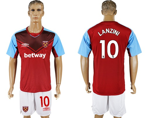West Ham United #10 Lanzini Home Soccer Club Jersey