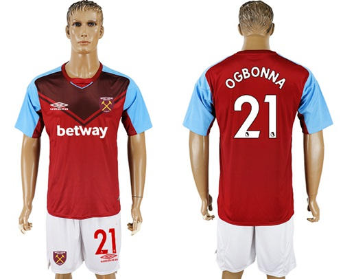 West Ham United #21 Ogbonna Home Soccer Club Jersey