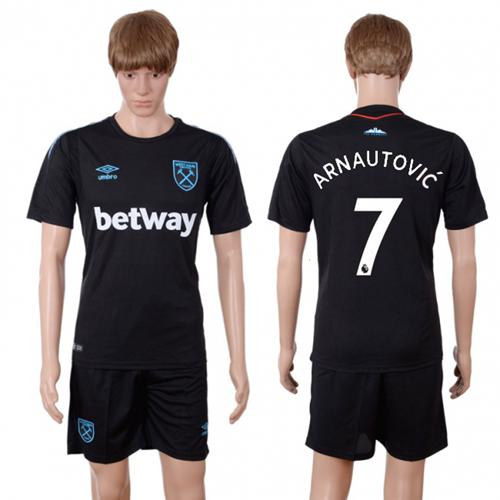 West Ham United #7 Arnautovic Away Soccer Club Jersey