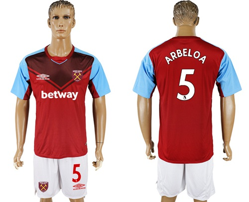 West Ham United #5 Arbeloa Home Soccer Club Jersey
