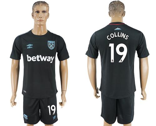 West Ham United #19 Collins Away Soccer Club Jersey