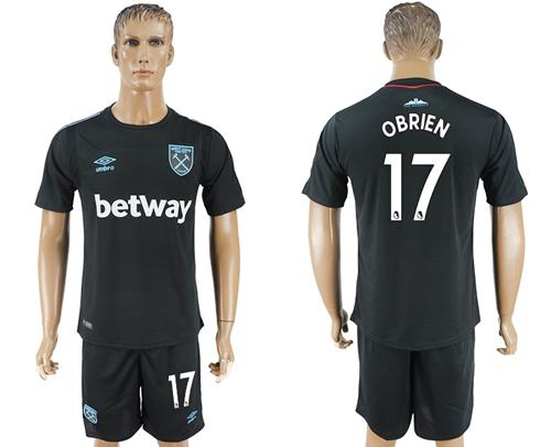 West Ham United #17 Obrien Away Soccer Club Jersey