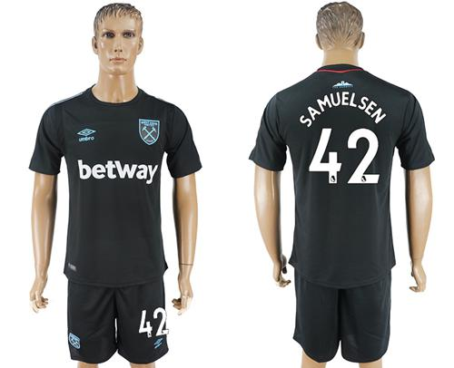West Ham United #42 Samuelsen Away Soccer Club Jersey