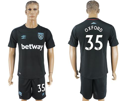 West Ham United #35 Oxford Away Soccer Club Jersey