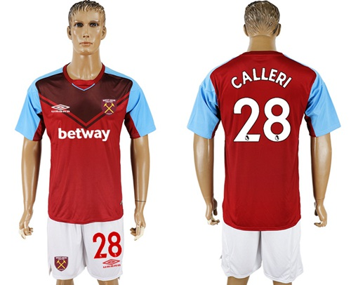 West Ham United #28 Calleri Home Soccer Club Jersey