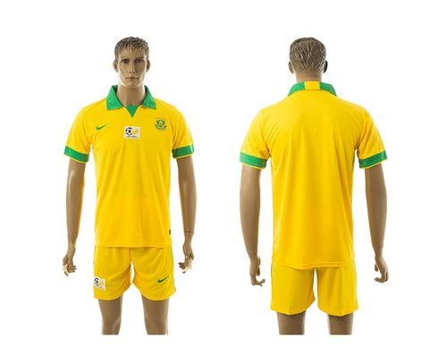 South African Blank Yellow Home Soccer Country Jersey