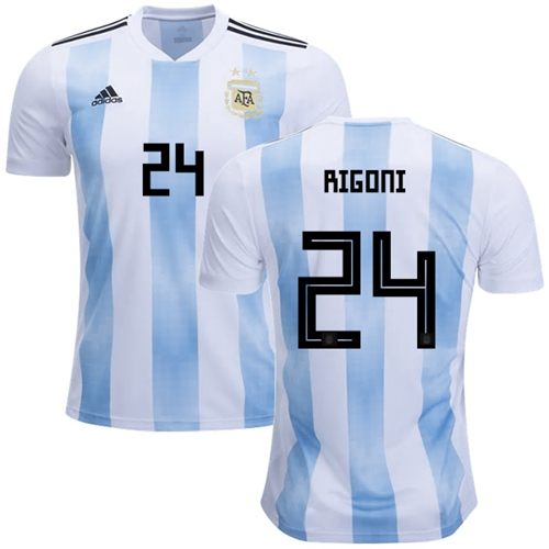 Argentina #24 Rigoni Home Soccer Country Jersey