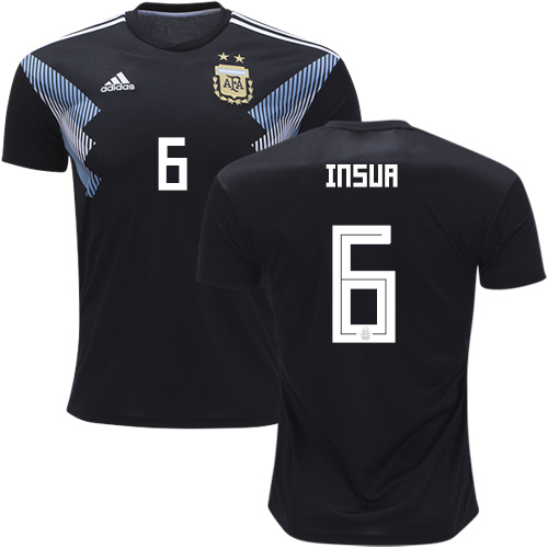 Argentina #6 Insua Away Soccer Country Jersey