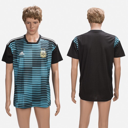 Argentina Blank Black Training Soccer Country Jersey