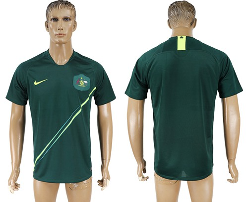 Australia Blank Away Soccer Country Jersey
