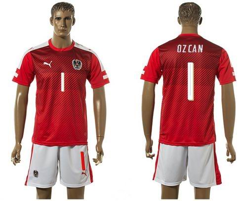 Austria #1 Ozcan Red Home Soccer Country Jersey