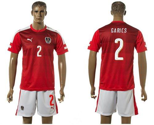 Austria #2 Garics Red Home Soccer Country Jersey