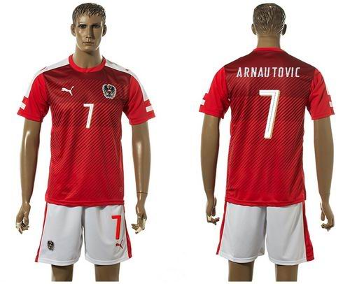 Austria #7 Arnautovic Red Home Soccer Country Jersey