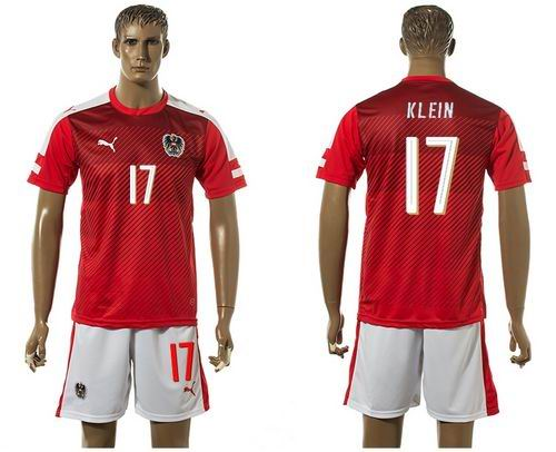 Austria #17 Klein Red Home Soccer Country Jersey