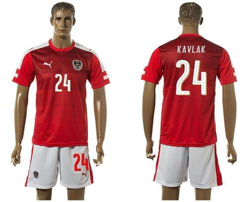 Austria #24 Kavlak Red Home Soccer Country Jersey