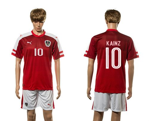 Austria #10 Kainz Red Home Soccer Country Jersey