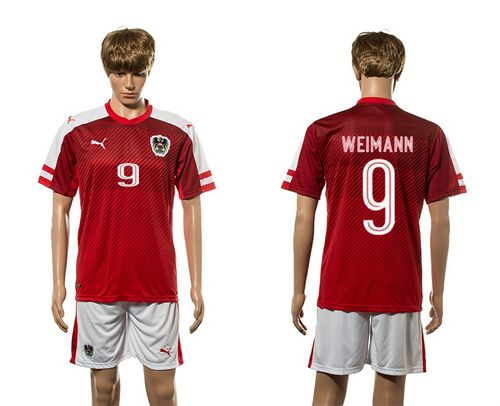 Austria #9 Weimann Red Home Soccer Country Jersey