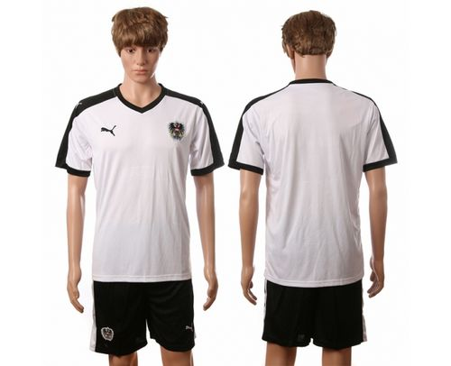 Austria Blank White Away Soccer Country Jersey