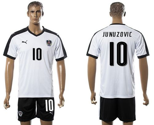 Austria #10 Junuzovic White Away Soccer Country Jersey