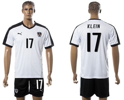 Austria #17 Klein White Away Soccer Country Jersey