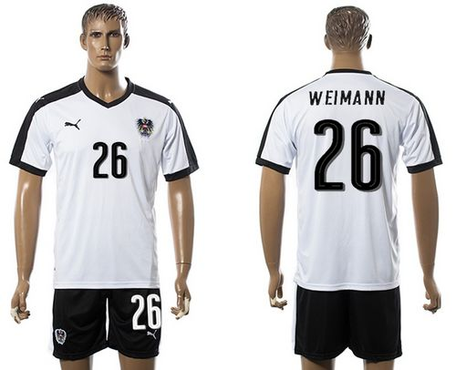 Austria #26 Weimann White Away Soccer Country Jersey