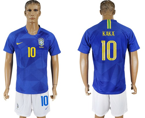 Brazil #10 Kaka Away Soccer Country Jersey