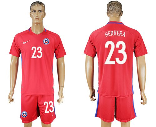 Chile #23 Herrera Home Soccer Country Jersey