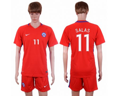 Chile #11 Salas Home Soccer Country Jersey