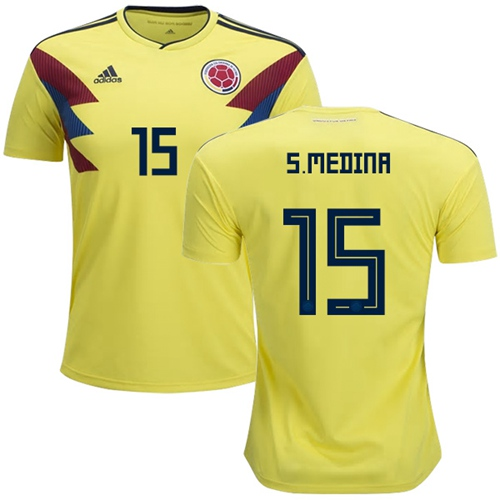 Colombia #15 S.Medina Home Soccer Country Jersey