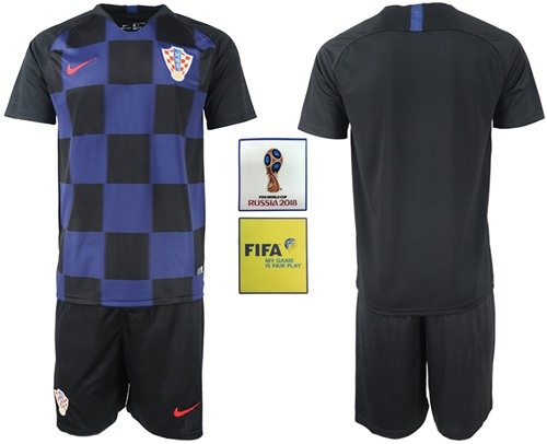 Croatia Blank Away Soccer Country Jersey