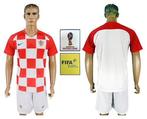 Croatia Blank Home Soccer Country Jersey