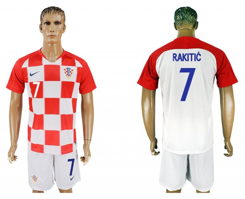 Croatia #7 Rakitic Home Soccer Country Jersey