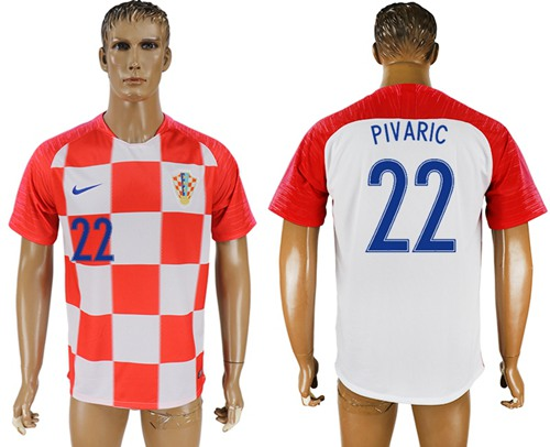 Croatia #22 Pivaric Home Soccer Country Jersey