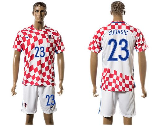 Croatia #23 Subasic Home Soccer Country Jersey